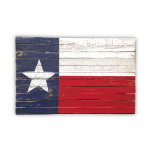 Texas State Vintage Wooden Flag
