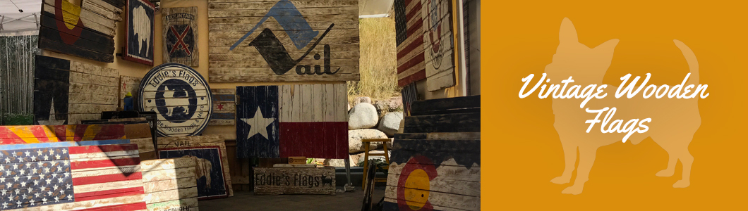 Vintage Wooden Flags